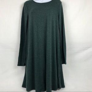 Old Navy Swing Dress Green Long Sleeve Sz Med